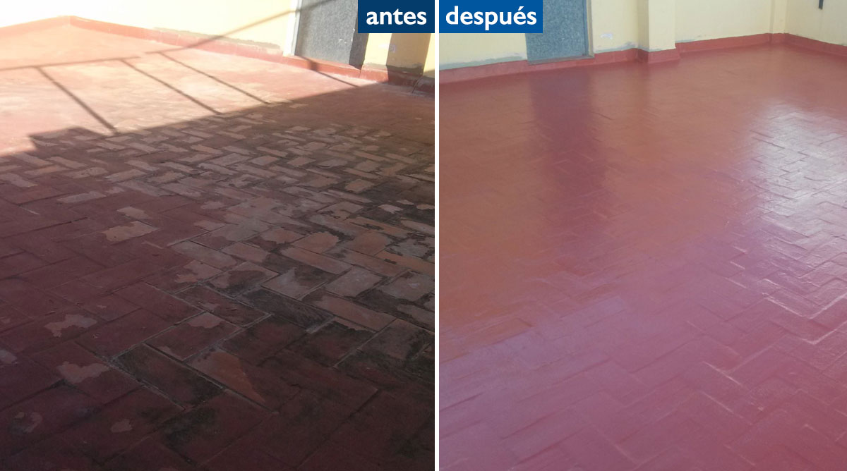 antes y después impermeabilización de terrazas